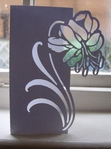 Floral 4 Over the Edge Card: