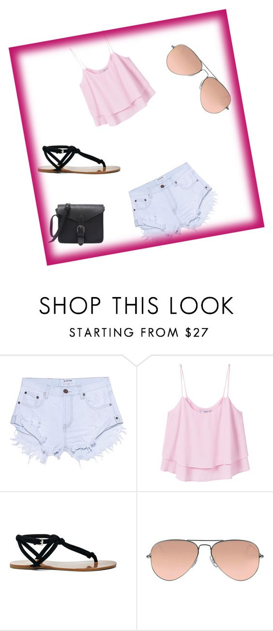 """""""Untitled #4"""" by nina-sabitovic ❤ liked on Polyvore featuring One Teaspoon, MANGO, Sole Society and Ray-Ban"""