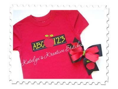 ABC123 Applique design for machine embroidery