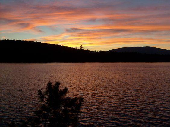Sunset at Pierce Pond, Maine, along the Appalachian Trail