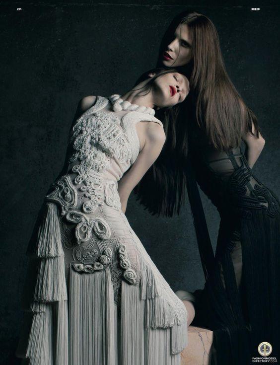 Mariacarla Boscono & Lea Tisci by Matthew Stone for Dazed & Confused