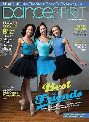ABT's Courtney Lavine, April Giageruso and Katie Williams, Dance Spirit March 2011