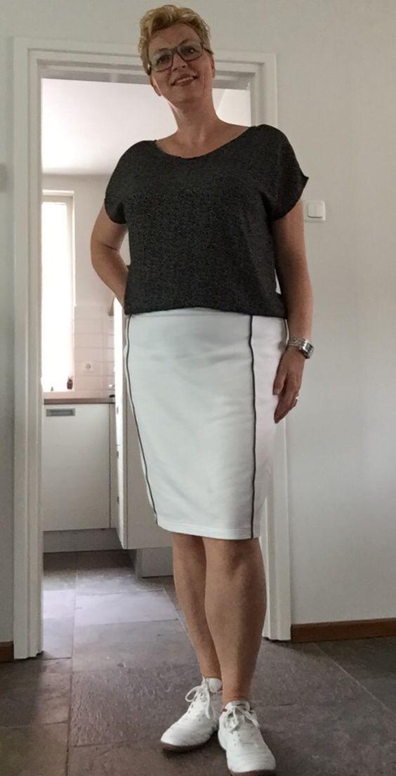 Top voor bij de rok #outfit compleet