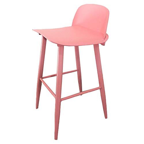Di Dani Bar Stool With Back Footrest Counter Height 29 5 Inches Color Pink Bar Stools With Backs Stools With Backs Bar Stools