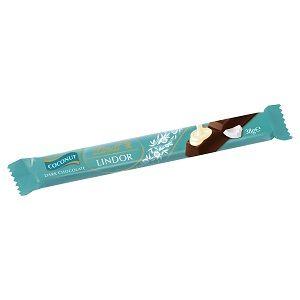 A bulk box of Lindor Dark Chocolate Coconut Bars.