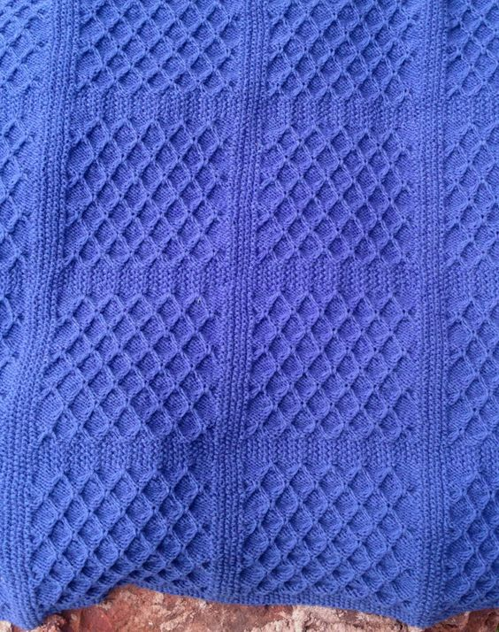 Knitting pattern for Dimple Square Baby Blanket #ad Fast knit and reversible ...