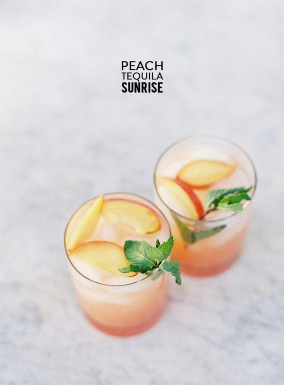 Peach Tequila Sunrise: