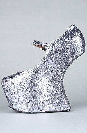 jeffrey campbell nightwalk white glitter - Google Search