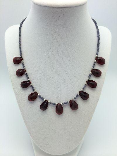 GARNET JANUARY birthstone necklace 1015egn