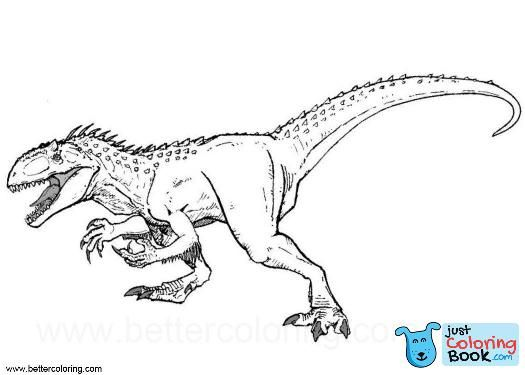 Image Result For Indoraptor Coloring Pages