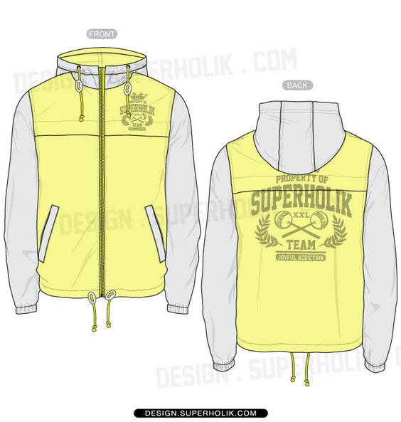 Windbreaker Jacket template vector | GIFTS | Pinterest ...