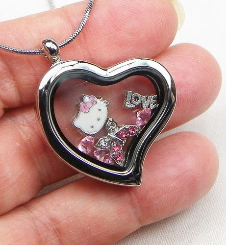 Hello Kitty Floating Charms Necklace. Starting at $8 on Tophatter.com!