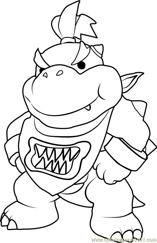 Bowser Jr Coloring Pages Printable In 2020 Mario Coloring Pages