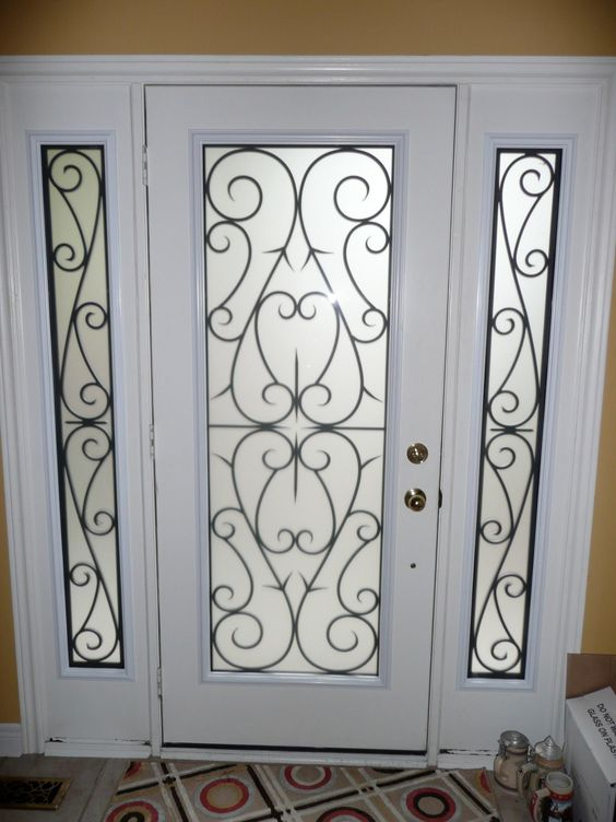 17 best images about door inserts be cool aesthetics for Home depot front door window inserts