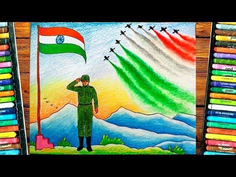 Independence Day Drawing Easy 15th August Painting Indian Army Drawing Youtube In 2020 Independence Day Drawing Army Drawing Easy Drawings