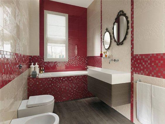 Il protagonista dei bagni moderni? e' il colore! http://www ...