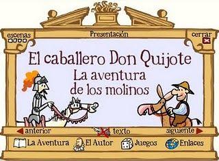 El caballero Don Quijote: la aventura de los molinos: