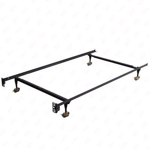 Mecor Heavy Duty Adjustable Metal Bed Frame Platform With Rug