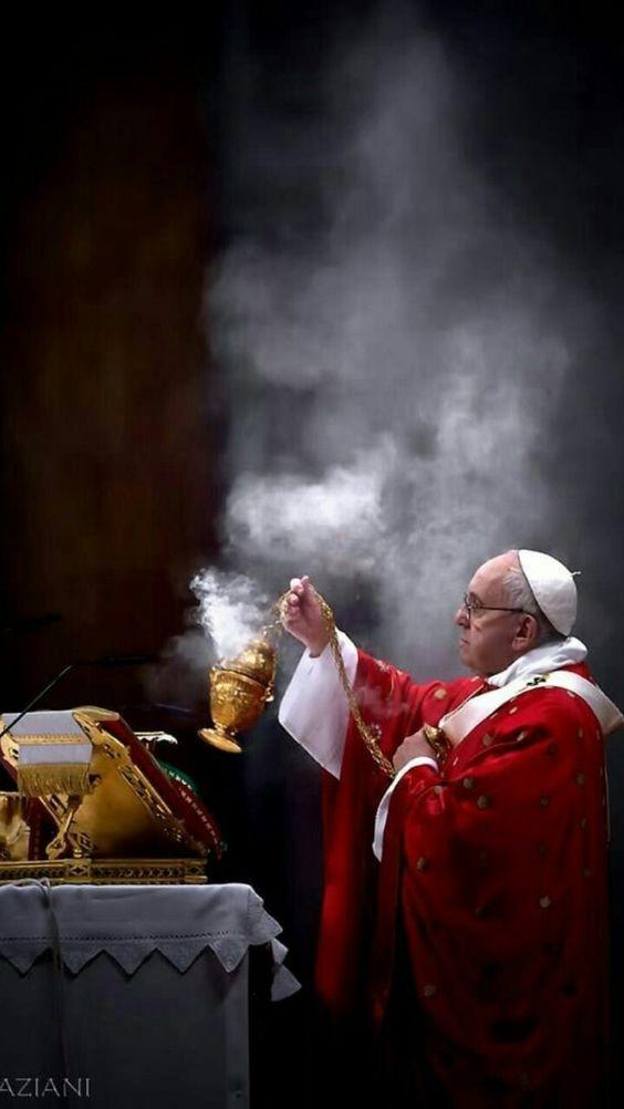Pope Francis spreading joy