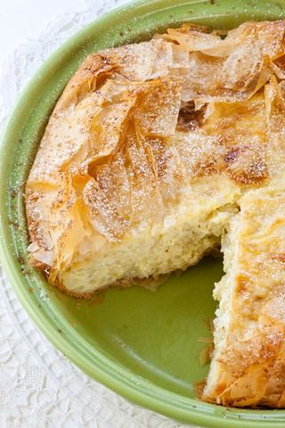 "torta-di-riso- rich and creamy egg and ricotta based dessert pie filled filled with cooked Arborio rice and delicately flavored with the essence of orange.  Think of it as rice pudding in a crust. In Italian culture, it is traditionally served after Mass on Easter Sunday to ""break the Fast"" observed by orthodox Catholics during Lent."