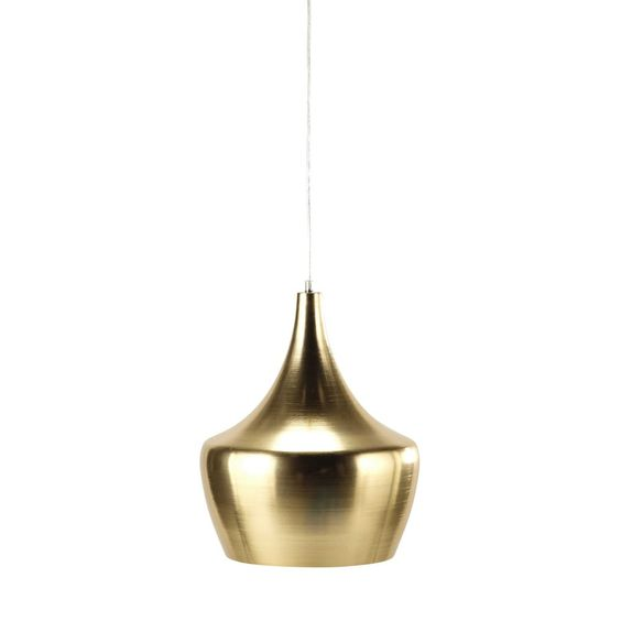 Metalen hanglamp, goudkleurig, diameter 29 cm, SWEET FOREST