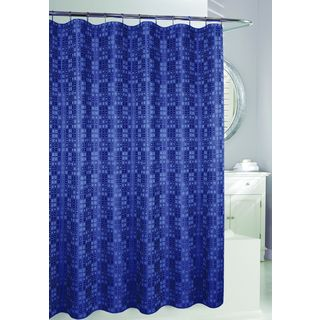 Shop for Blue Polyester Geometric Shower Curtain. Free Shipping on orders over $45 at Overstock.com - Your Online Bath