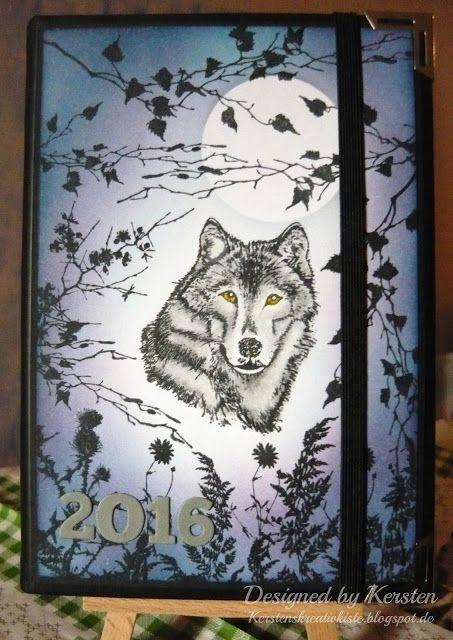 Kersten's Kreativkiste: Kalender-Cover mit Wolf