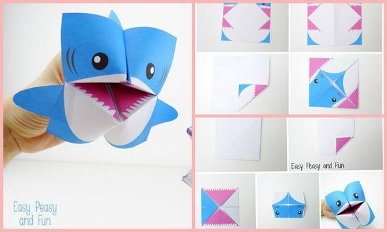 Работаем с бумагой. Как вам такая идея? Делаем из бумаги акулу.
