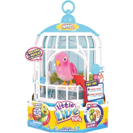Moose Toys Little Live Pets Pink Bird with Cage - Walmart.com