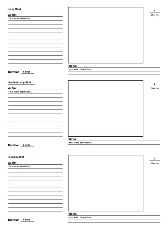 Free Film  Video Storyboard Template  Studiobinder  Video