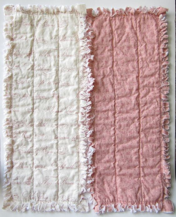 Baby Girl Burp Cloths French Country Pink by LittleTreasureQuilts, $30.00