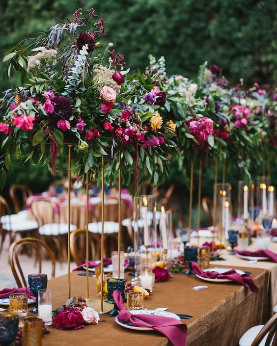 "K.Sage Events on Instagram: ""Big, bold, and beautiful jewel tones coming in for the win! Planning + Design 