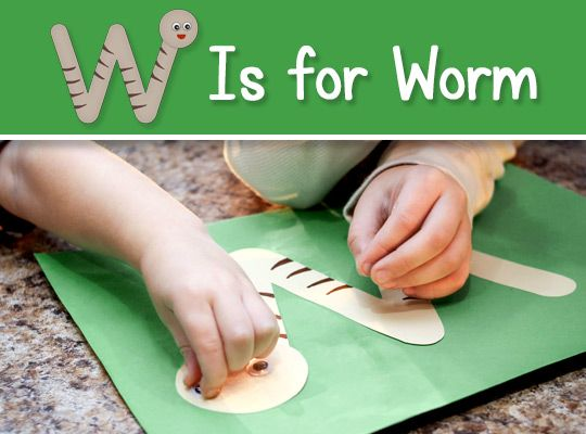 letter w craft template  Printable Letter W Craft - W is for Worm (FREE Download ...