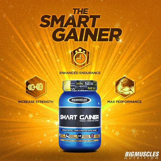 Gain the smart way with the Smart Gainer by #BigMusclesNutrition for muscles building and performance enhancing results.