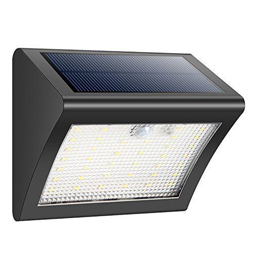 Solar Power DEL capteur de mouvement mur lumières extérieur jardin lampadaire Imperméable