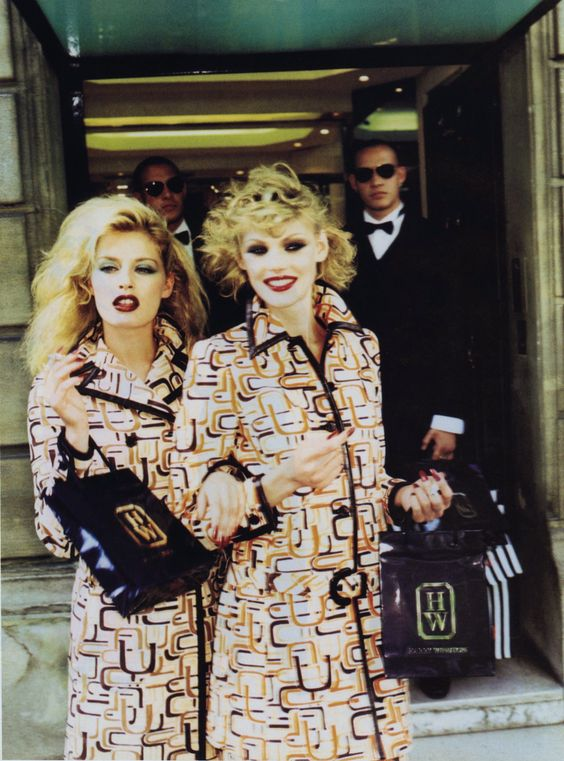 Vogue Italia September 1996 Crazy For Fashion  Photo Ellen Von Unwerth Models Shirley Mallmann & Annie Morton