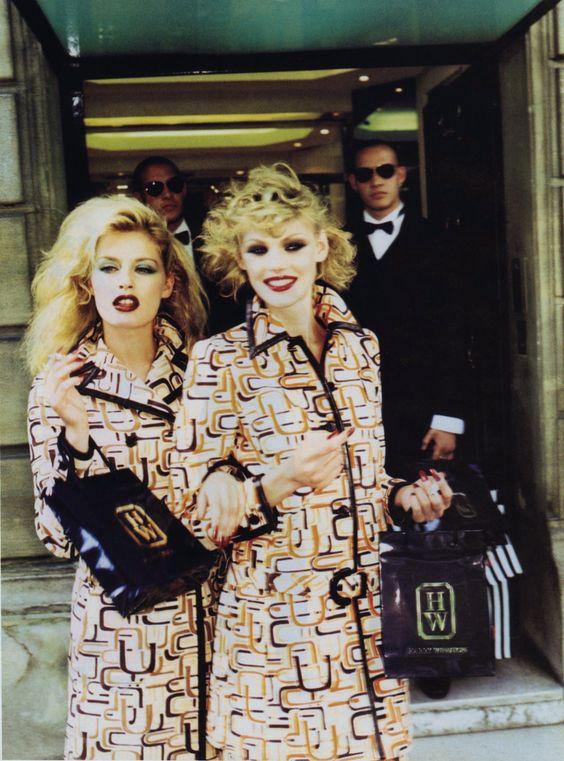 Vogue Italia September 1996 Crazy For Fashion  Photo Ellen Von Unwerth Models Shirley Mallmann & Annie Morton