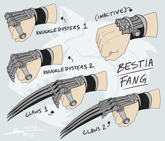 RWBY OC Weapon - Bestia Fang   MEJC of Beacon   Pinterest ...