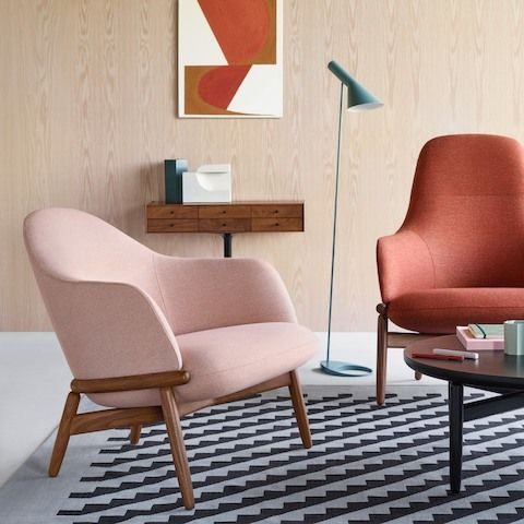 Herman Miller Collection At Work Beforehand And Afterwards Lounge Seating Therapist Office Decor Lounge Areas