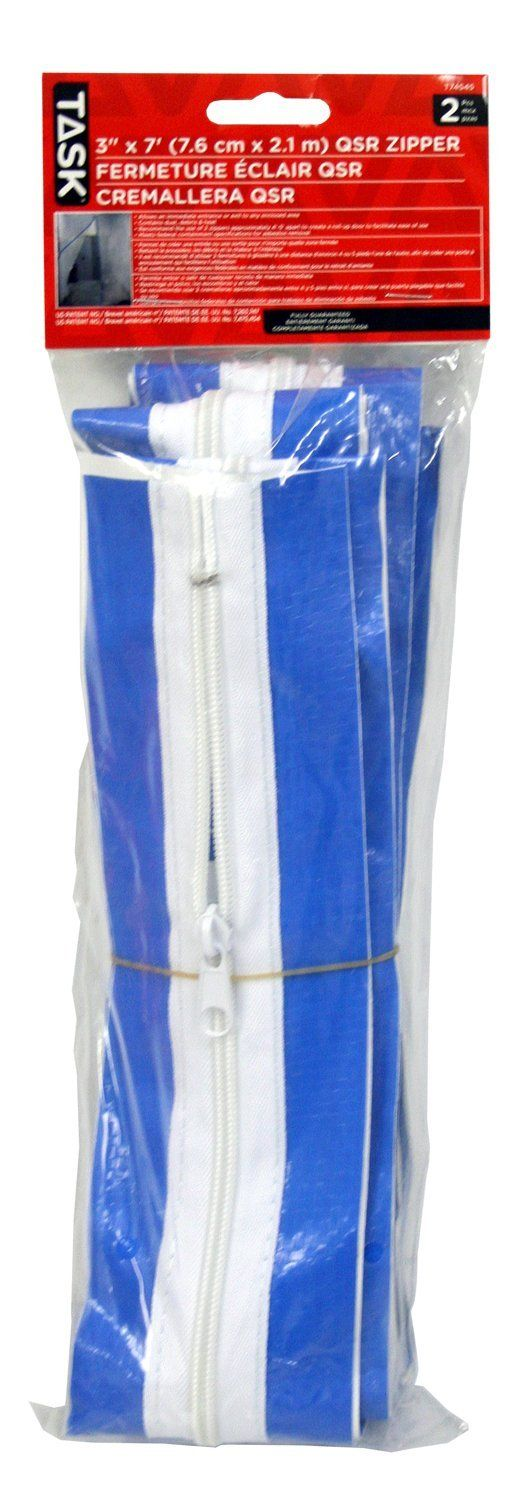 Task Tools T74545  3-Inch by 7-Feet Quick Support Rod Zipper with  2 Zippers -- Read more at the image link.