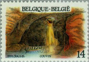 Stamp: Couvin (Belgium) (Logne Castle, Ferrieres) Mi:BE 2462,Sn:BE 1403,Yt:BE 2410,Bel:BE 2410