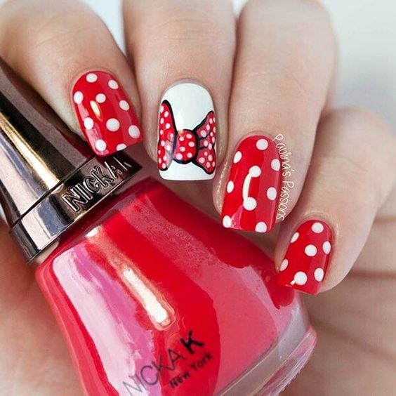 21 Super Cute Disney Nail Art Designs | Arte uñas, Disney y Uñas disney