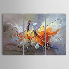 lienzos pintados para la pintura al óleo moderna del paisaje abstracto con la mano estirada enmarcada 2016 - $62.99