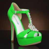 Lime green wedding shoes
