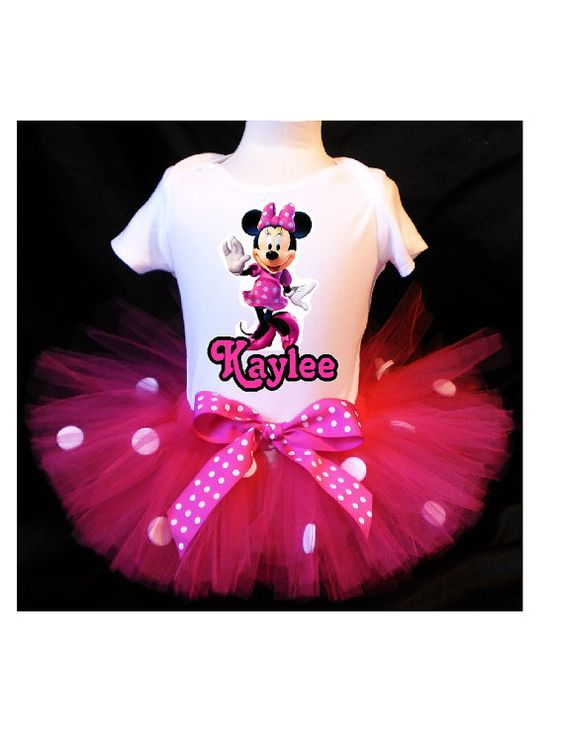 Minnie Mouse Pink Tutu Birthday Outfit by PrettyAsAPrincess2, $31.99