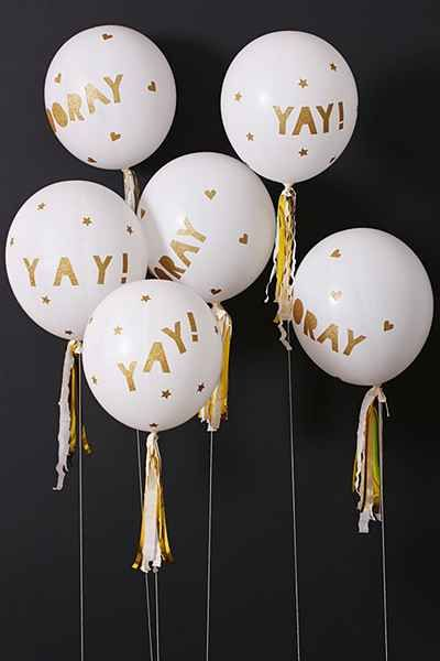 Glittered Balloon Party Kit  by MERI MERI @ URBAN OUTFITTERS $16.00.: