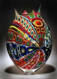 Image result for coloured glass vase artwork