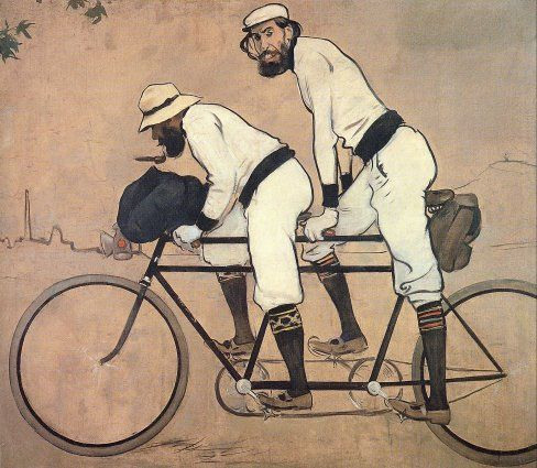 Old Paint: Ramón Casas, Ramón Casas y Pere Romeu en Tàndem, 1897