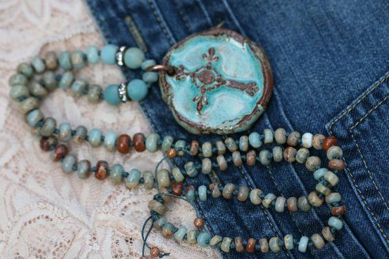 Bohemian Cross Necklace
