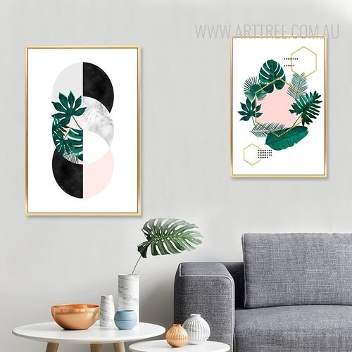 Nordic Plant Leaf Wall Art Painting Canvas Prints Diy Bedroom Wall Paint